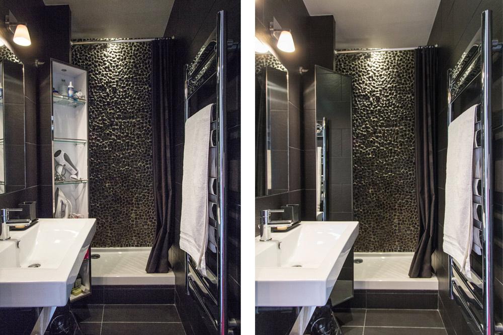 Idee deco salle de bain petite surface architecture design - Salle de bain italienne petite surface ...