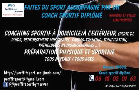 PerfFitSport Connu Carte Visite Coach Sportif Cartes De