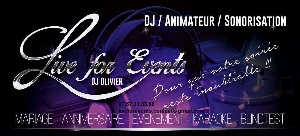 Préférence Live for Events (DJ Olivier) : Mariage, Anniversaire, Evénement  JD98