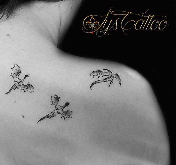 Dragon Dessin Tatouage Petit Kolorisse Developpement