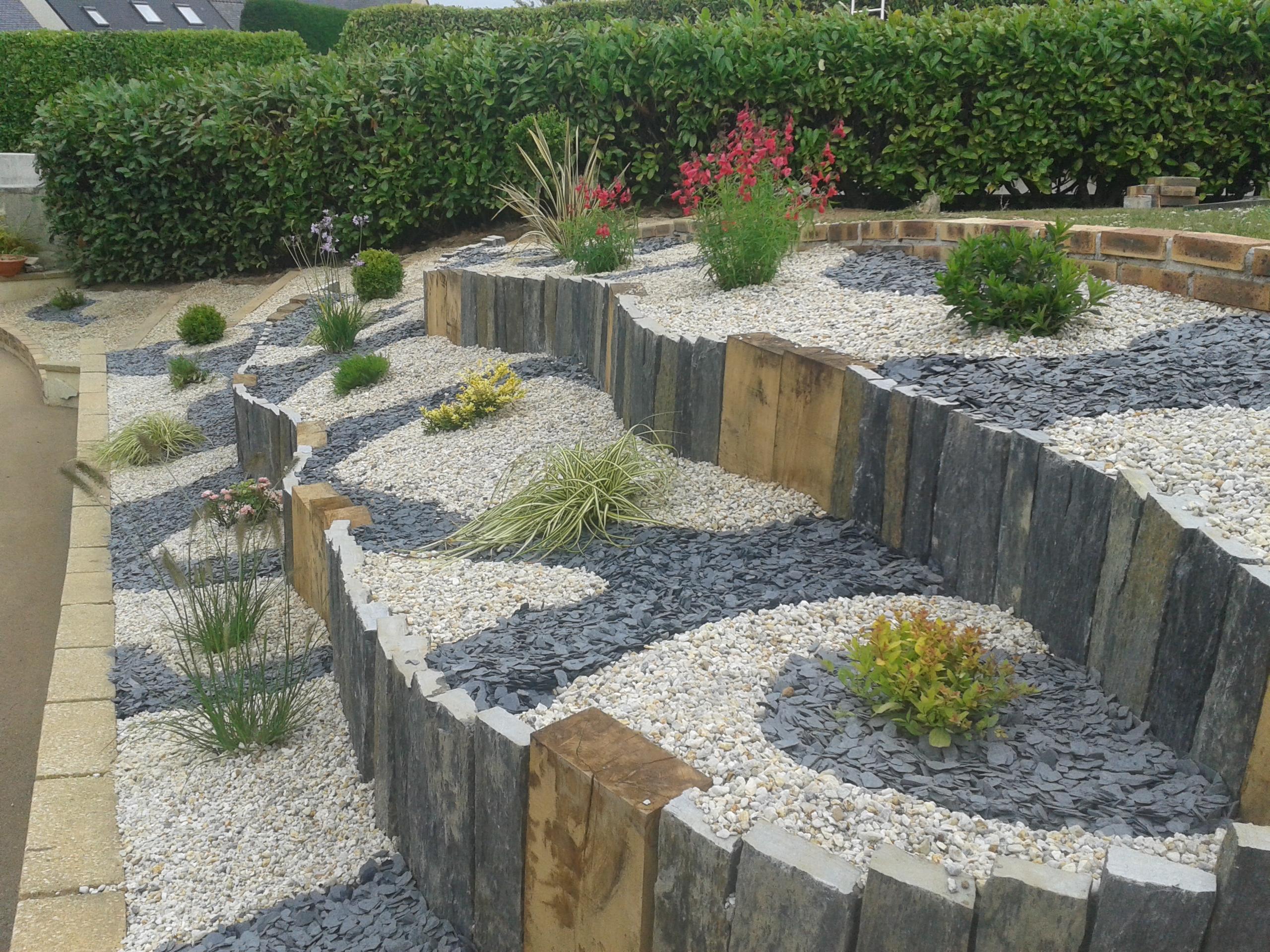 Couleur jardin for Amenagement jardin ardoise